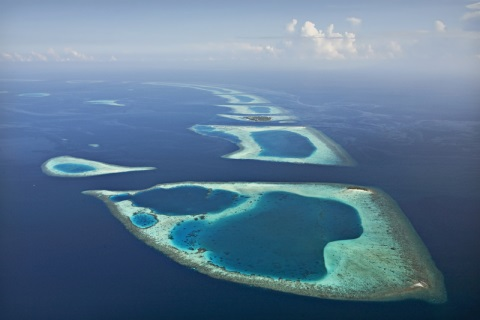 Coral Reef and Atoll-Moldives